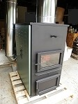 FORCED-AIR ONE CORN WOOD PELLET MULTIFUEL FURNACE STOVE