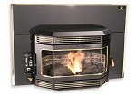 FIREPLACE INSERT CONTINOUS-BAY-WINDOW Wood Pellet