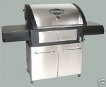 CORN POWERED GRILL Barbeque Stainless, TRUE TASTE, fuel is CORN - LESS COSTLY