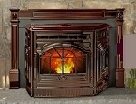 FIREPLACE INSERT VINTAGE CORN PELLET STOVE CAST IRON, Antique Frame Replica NEW