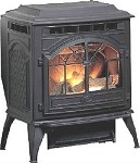 VINTAGE CAST IRON CORN WOOD PELLET STOVE FURNACE, ANTIQUE Frame Replica (NEW)