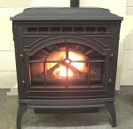 COLONIAL CAST IRON CORN PELLET STOVE FURNACE, 60,000 BTU/Hr