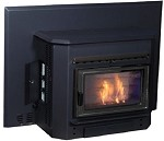 BIG FIREPLACE INSERT BIOMASS BURNER Wood Pellet Corn Multifuel