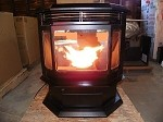 BAY WINDOW MODEL II (TWO) CORN WOOD PELLET MULTI-FUEL STOVE FURNACE